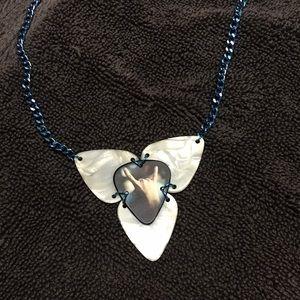 Rocker guitar pick necklace
